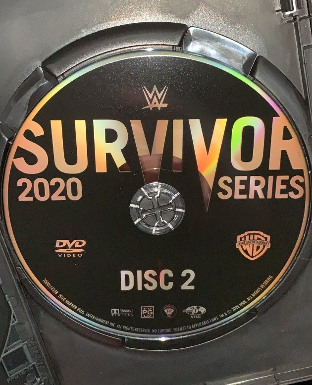 WWE Survivor Series 2020 DVD - Disc Artwork, Undertaker Farewell Colors