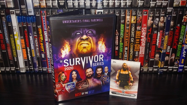 WWE Survivor Series 2020 DVD - With Braun Strowman Trading Card