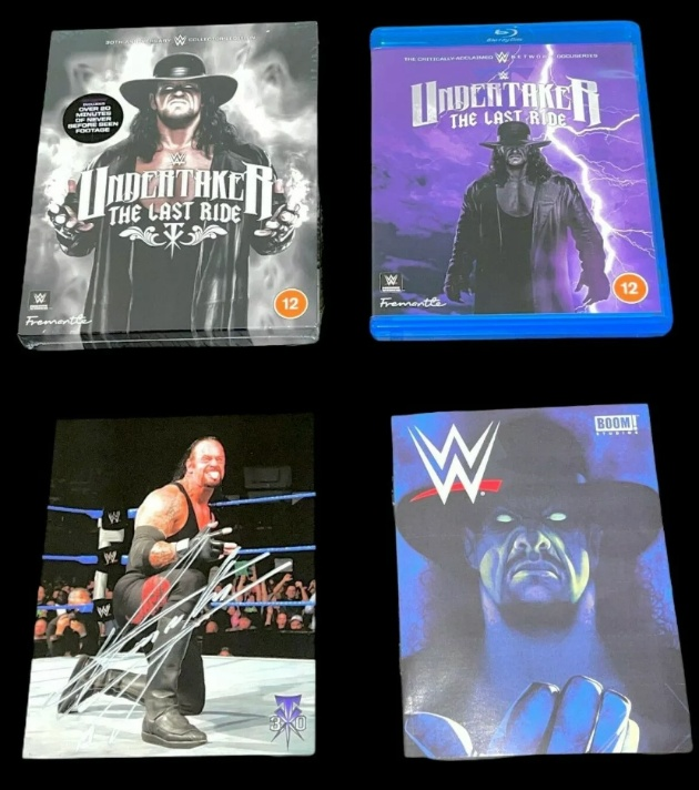 WWE - Photo of 'Undertaker: The Last Ride' Collectors Edition Blu-ray Contents