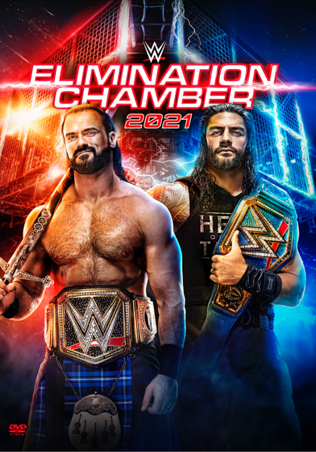 WWE Elimination Chamber 2021 DVD - Front Cover Artwork