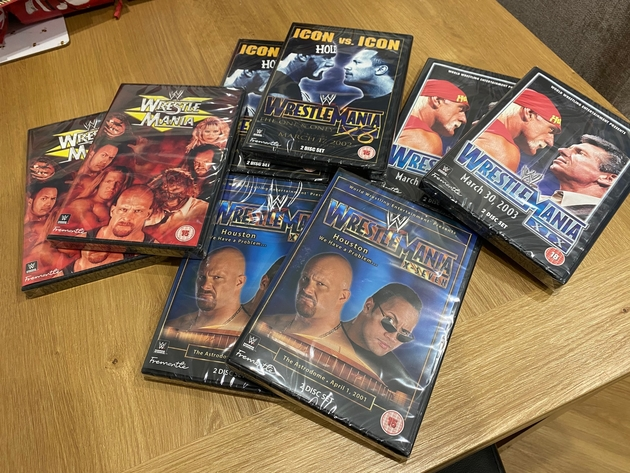 WWE WrestleMania 15, 17, 18 and 19 DVDs - Classic WrestleMania Events
