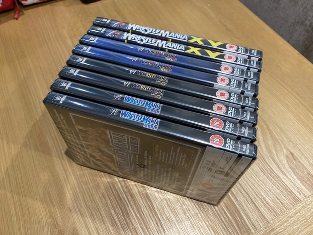 WWE WrestleMania 15 to 19 DVDs - UK Re-Releases by Fremantle