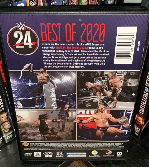 WWE 24: Best of 2020 DVD - Photos, Back Cover