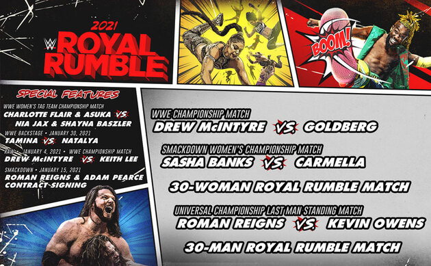 WWE Royal Rumble 2021 DVD - Content & Extras List
