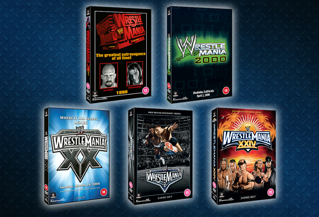 WWE WrestleMania 14, 16, 20, 22 and 24 Re-Releases for 2021