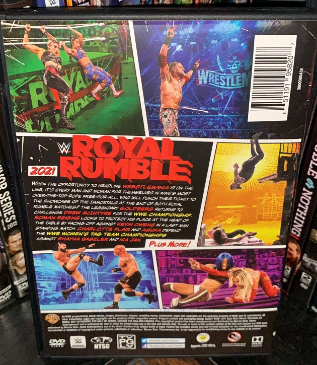 WWE Royal Rumble 2021 DVD - Photos, Back Cover
