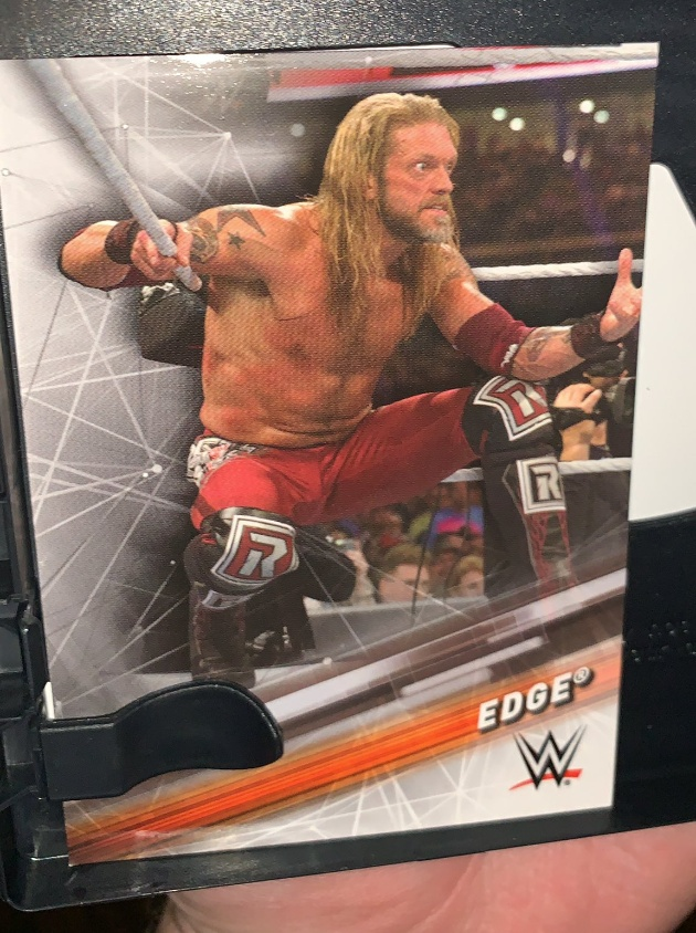 WWE - Edge Topps Trading Card Free Inside Royal Rumble 2021 DVD