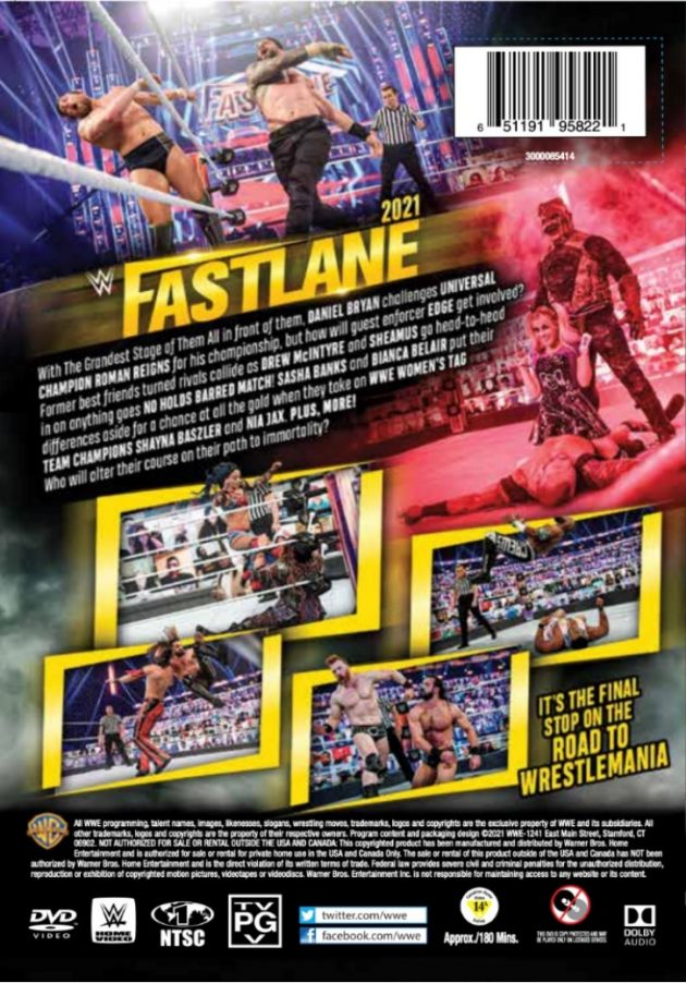 WWE Fastlane 2021 DVD - Back Cover Artwork