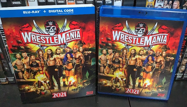 WWE WrestleMania 37 Blu-ray With Slipcover Packaging