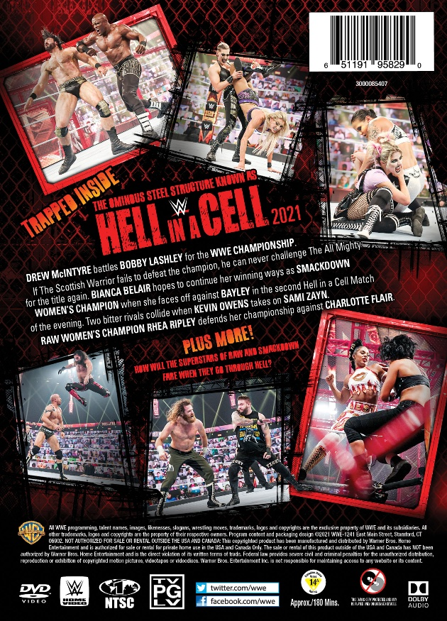 WWE Hell in a Cell 2021 DVD - Back Cover Artwork