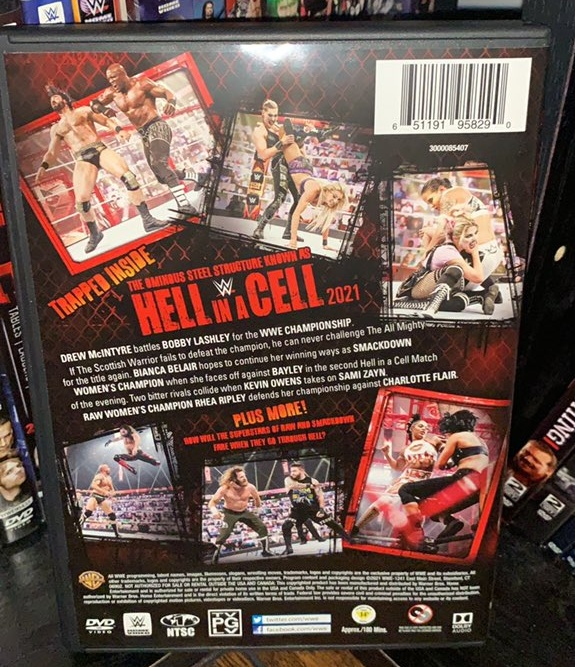 WWE Hell in a Cell 2021 DVD - Photos, Back Cover