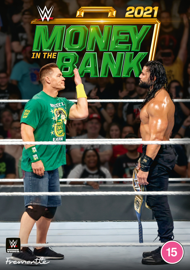WWE Money in the Bank 2021 DVD - Front Cover Artwork