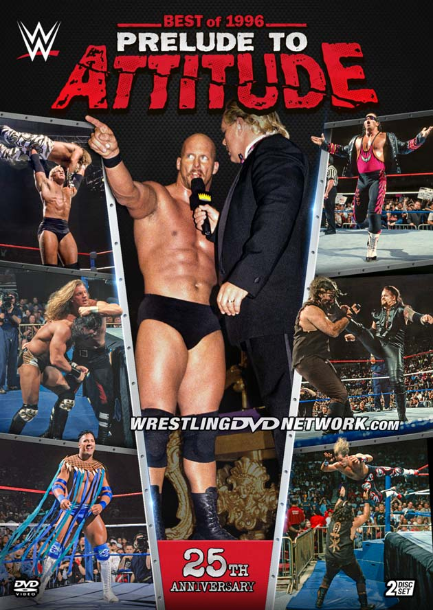 WWE 'Best of 1996 - Prelude to Attitude' DVD - Front Cover Artwork