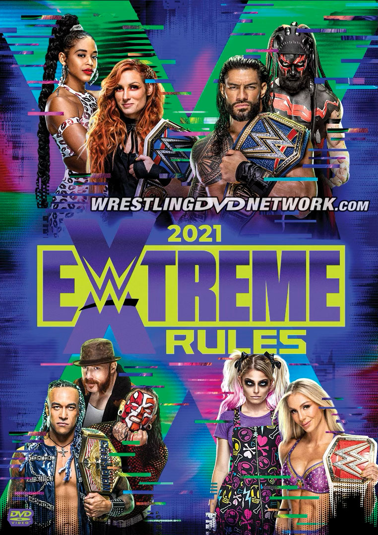 WWE Extreme Rules 2021 DVD - Front Cover Artwork